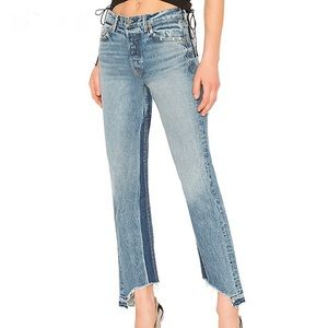 NWT GRLFRND Helena High-Rise Straight Jean Toxic